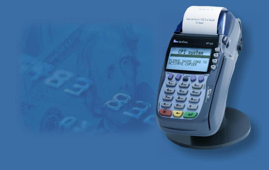 self service credit card termianl for copy machines